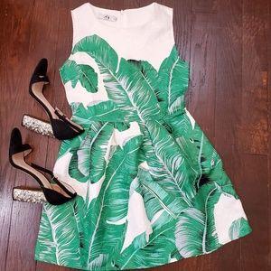 A1 Studio Palm Leaf Aline Summer Dress.